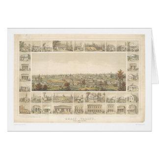 Chíbese el valle, mapa panorámico 1858 (0663A) del Tarjeta De Felicitación