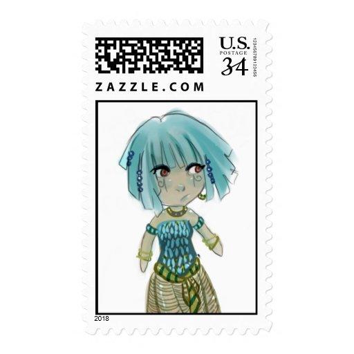 Chibi Ancient Egyptian Stamp