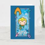 Chibi Aquaman - I'll Swim The Seven Seas Holiday Card