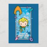 Chibi Aquaman - I'll Swim The Seven Seas Holiday Postcard