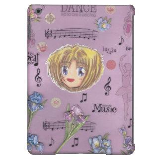 Chibi Ayame w/collage background iPad Air case