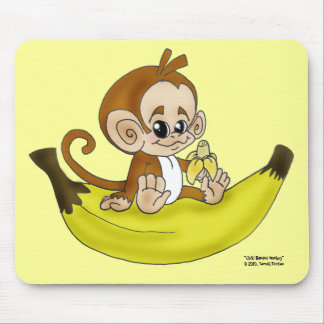 """CHIBI Banana MONKEY"" Mousepad"