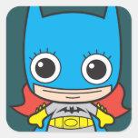 Chibi Batgirl Calcomanía Cuadradase