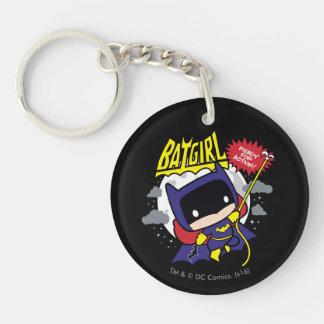 Chibi Batgirl listo para la acción Llavero Redondo Acrílico A Doble Cara