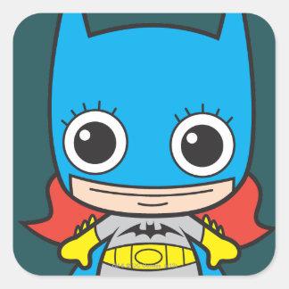 Chibi Batgirl Pegatina Cuadrada