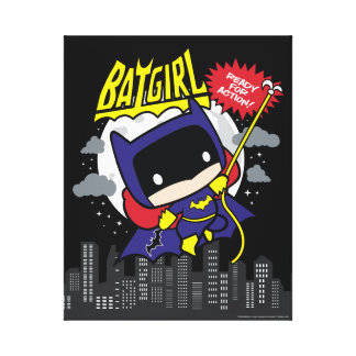 Chibi Batgirl Ready For Action Canvas Print