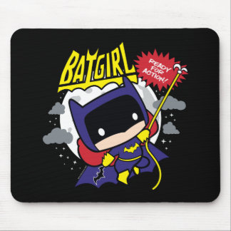 Chibi Batgirl Ready For Action Mouse Pad