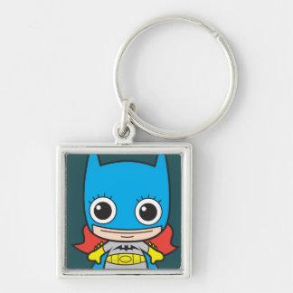Chibi Batgirl Silver-Colored Square Keychain