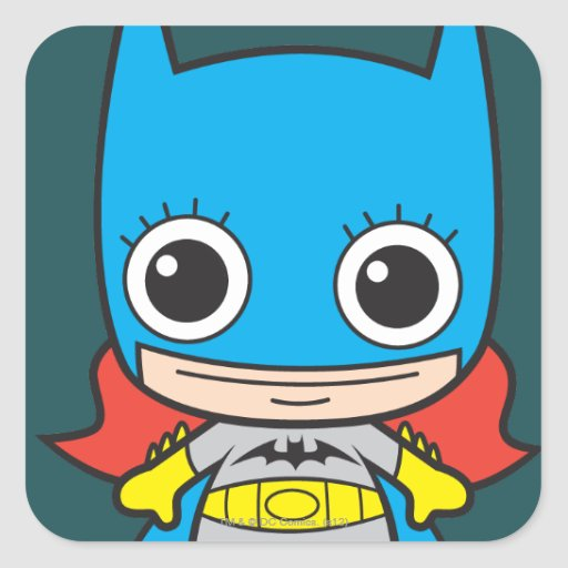 Chibi Batgirl Square Stickers