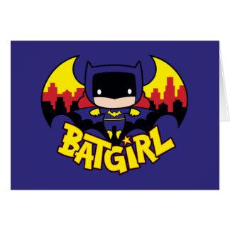 Chibi Batgirl With Gotham Skyline & Logo Card