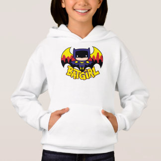 Chibi Batgirl With Gotham Skyline & Logo Hoodie