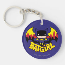 chibi batgirl, gotham city, city skyline, bat silhouette, batgirl logo, batgirl name, bat emblem, bat logo, super hero, batman, justice league, dc comics, [[missing key: type_aif_keychai]] with custom graphic design