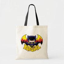 chibi batgirl, gotham city, city skyline, bat silhouette, batgirl logo, batgirl name, bat emblem, bat logo, super hero, batman, justice league, dc comics, Bag with custom graphic design