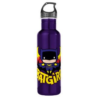 Chibi Batgirl With Gotham Skyline & Logo Water Bottle