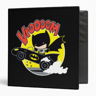 Chibi Batman In The Batmobile Binder