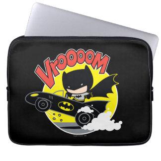 Chibi Batman In The Batmobile Computer Sleeve