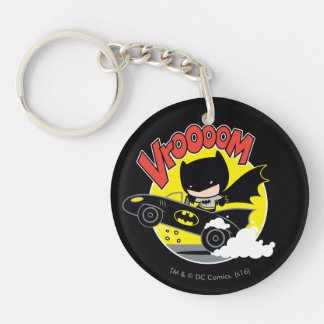 Chibi Batman In The Batmobile Keychain
