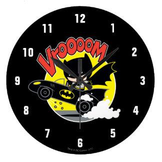 Chibi Batman In The Batmobile Large Clock