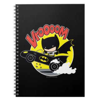 Chibi Batman In The Batmobile Notebook
