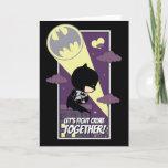 Chibi Batman - Let's Fight Crime Together Holiday Card