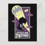 Chibi Batman - Let's Fight Crime Together Holiday Postcard
