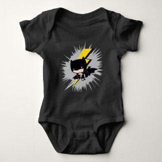 Chibi Batman Lightning Kick Baby Bodysuit