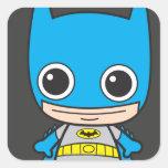 Chibi Batman Pegatina Cuadrada