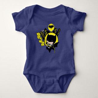 Chibi Batman Scaling The City Baby Bodysuit