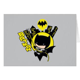 Chibi Batman Scaling The City Card