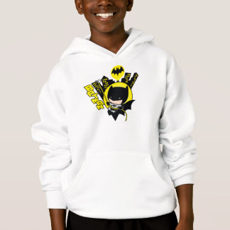 Chibi Batman Scaling The City Hoodie