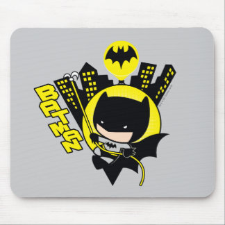 Chibi Batman Scaling The City Mouse Pad