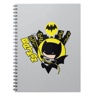 Chibi Batman Scaling The City Spiral Notebook