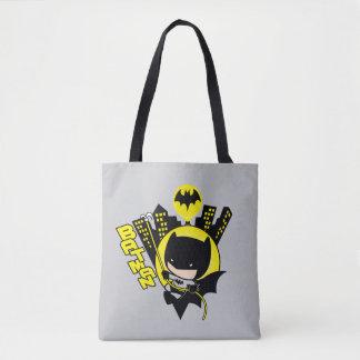 Chibi Batman Scaling The City Tote Bag
