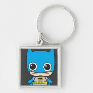 Chibi Batman Silver-Colored Square Keychain