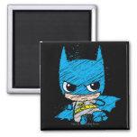 Chibi Batman Sketch 2 Inch Square Magnet