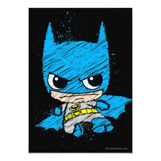 Chibi Batman Sketch 5x7 Paper Invitation Card