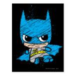 Chibi Batman Sketch Postcard