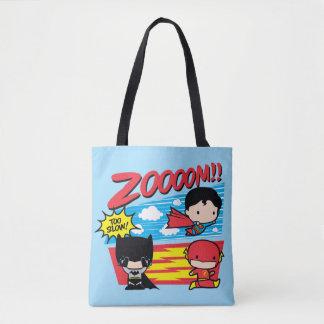 Chibi Batman Too Slow! Tote Bag