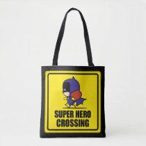 chibi justice league, super hero, batgirl, crossing sign, dc comics, [[missing key: type_manualww_tot]] with custom graphic design