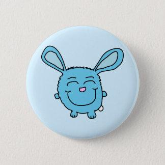 Chibi Blue Bunny Pinback Button