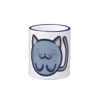 Chibi Blue Cat Mugs