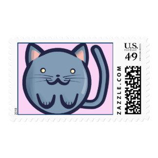 Chibi Blue Cat Postage