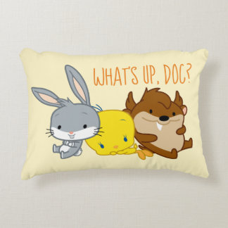 Chibi BUGS BUNNY™, TWEETY™, & TAZ™ Accent Pillow