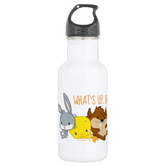 Chibi BUGS BUNNY™, TWEETY™, & TAZ™ Stainless Steel Water Bottle