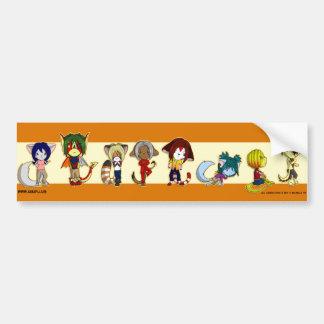 Chibi Cast Bumper Sticker
