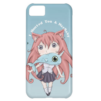 Chibi Cat Girl With Baby Narwal iPhone 5C Cover