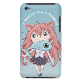 Chibi Cat Girl With Baby Narwal iPod Case-Mate Cases