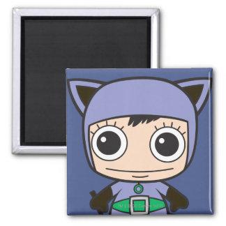 Chibi Cat Woman 2 Inch Square Magnet