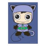 """Chibi Cat Woman 5"""" X 7"""" Invitation Card"""