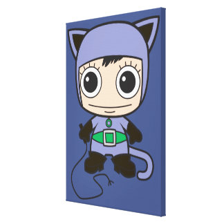 Chibi Cat Woman Gallery Wrap Canvas